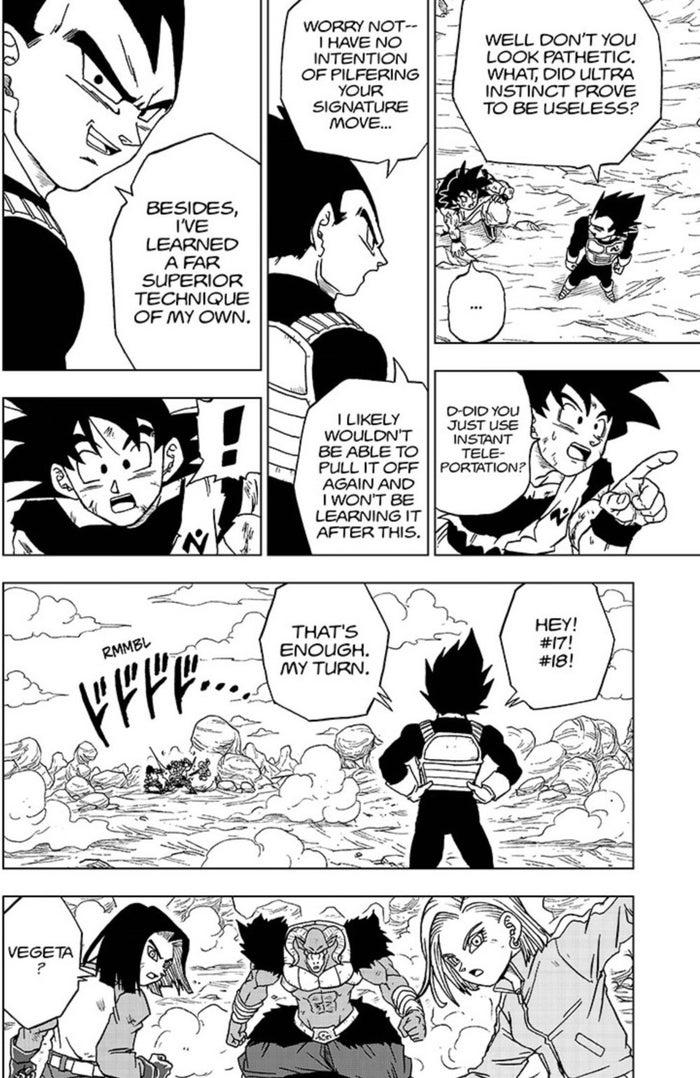 Dragon Ball Super Manga 60 Vegeta Mocks Goku Ultra Instinct Fail