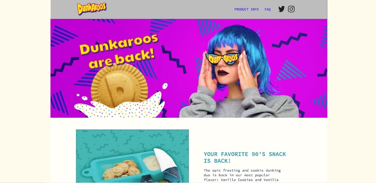 dunkaroos website