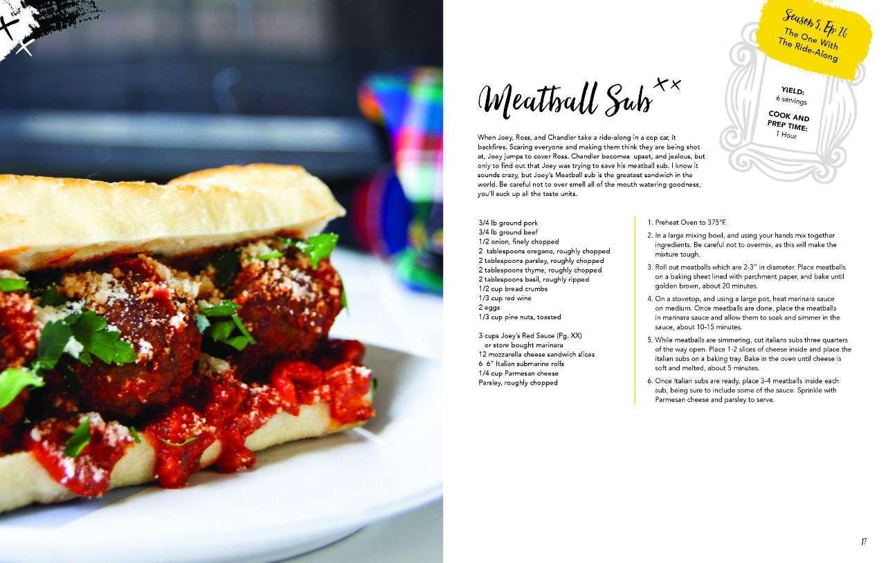 Friends Cookbook _ Meatball Sub