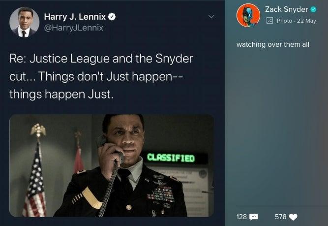 Harry Lennix Martian Manhunter Zack Snyder