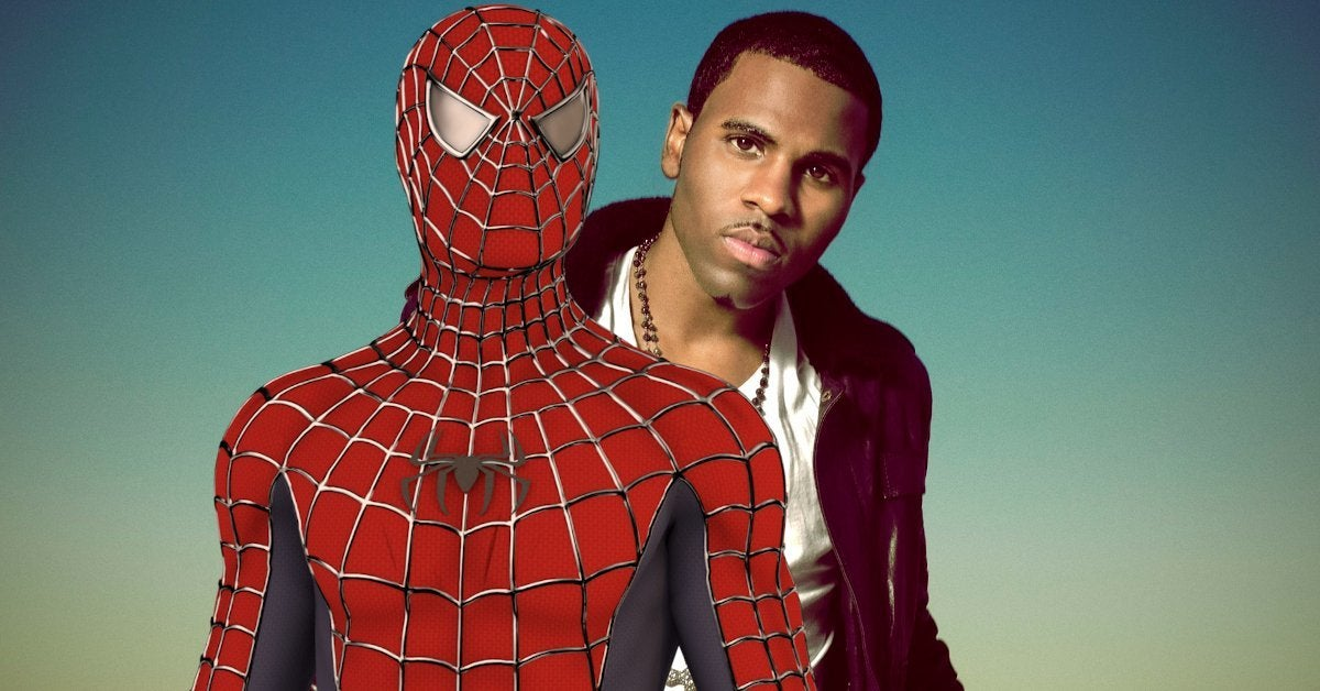 Jason Derulo Becomes Spider-Man TikTok Wipe It Down Challenge NSFW