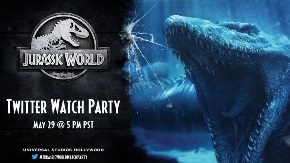 jurassic world twitter watch party