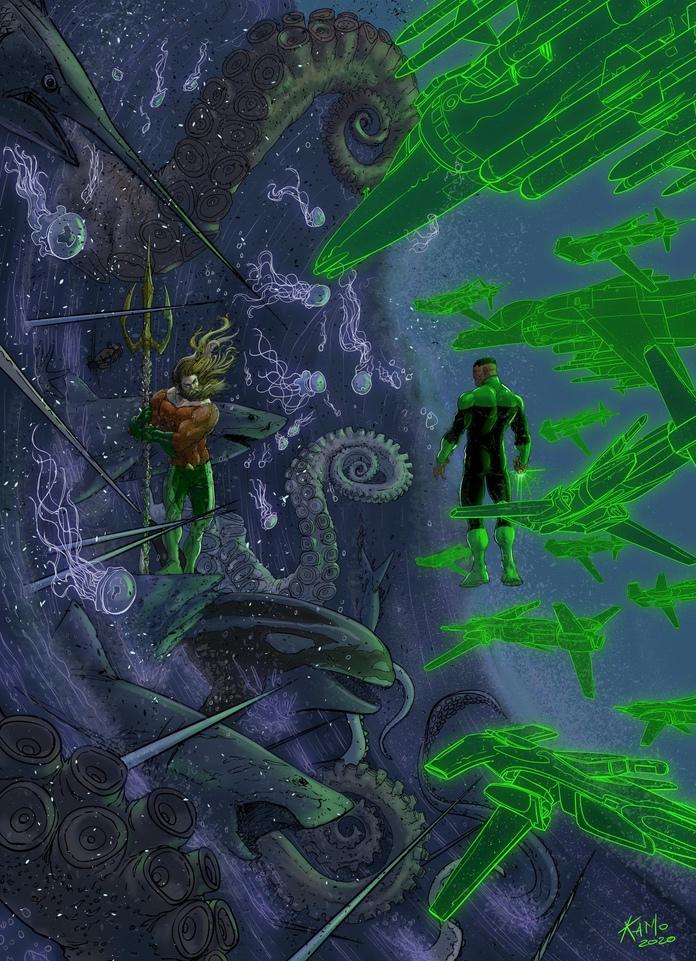 Karl Mostert - Aquaman Green Lantern