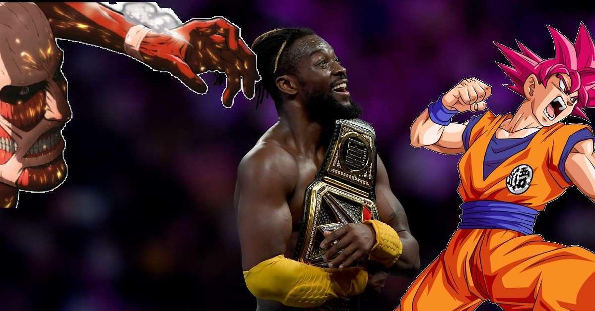 Kofi Kingston Dragon Ball Z Attack On Titan