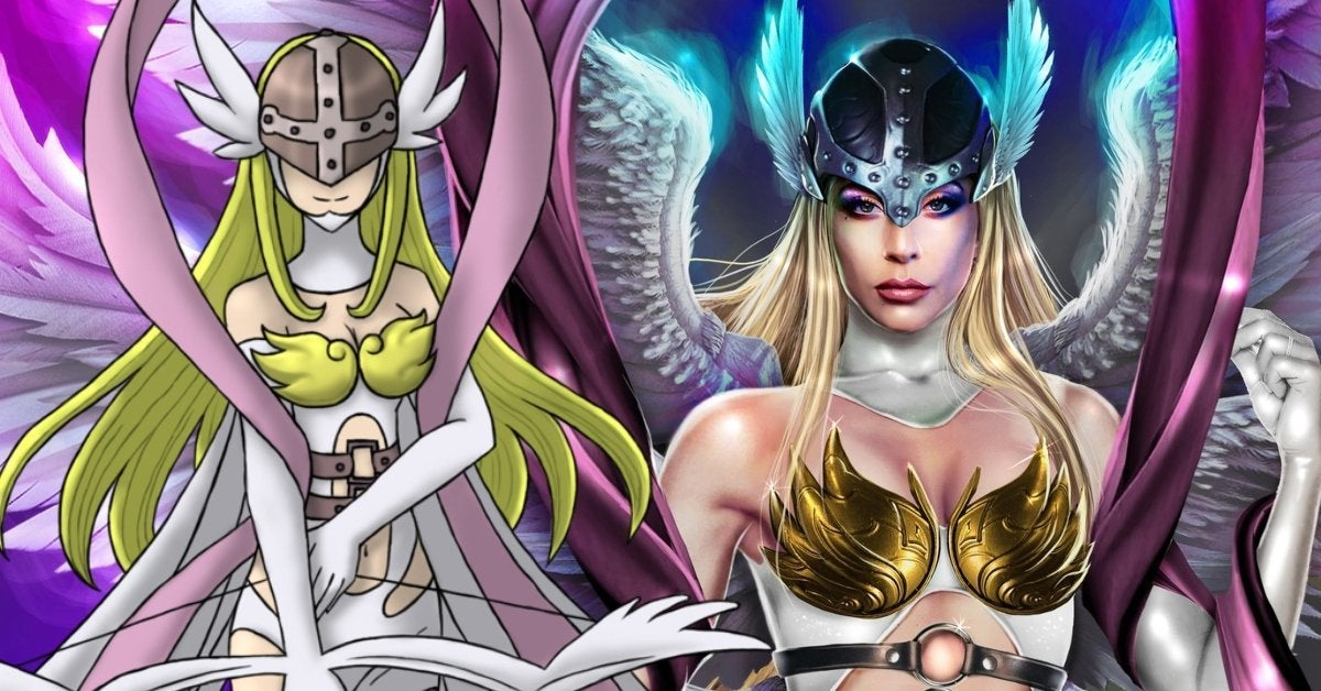 Lady Gaga Digimon Angewomon