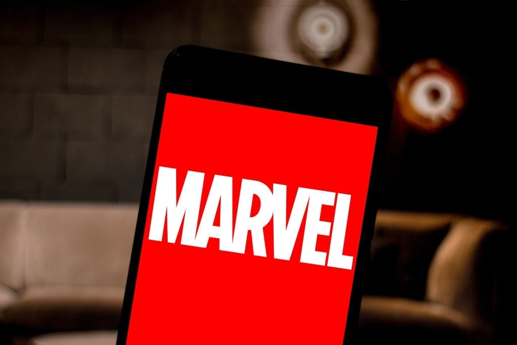marvel logo phone background