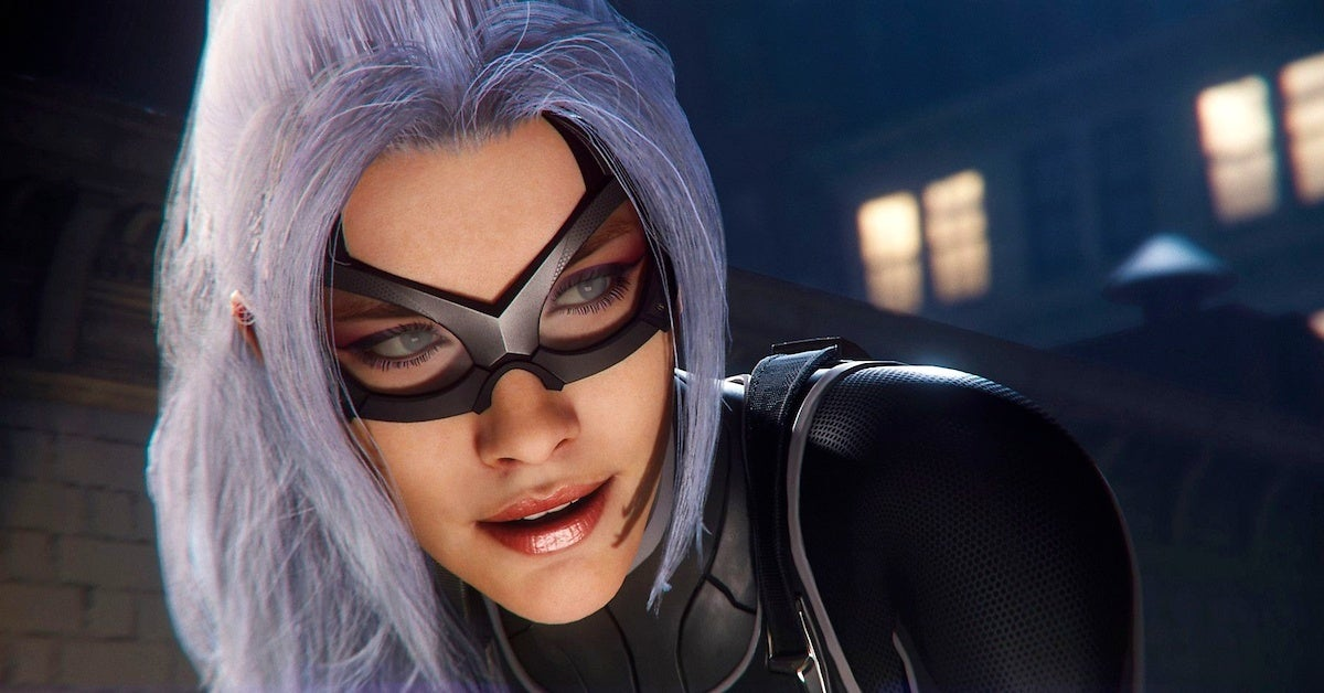 marvel's spider-man black cat spider-man-game