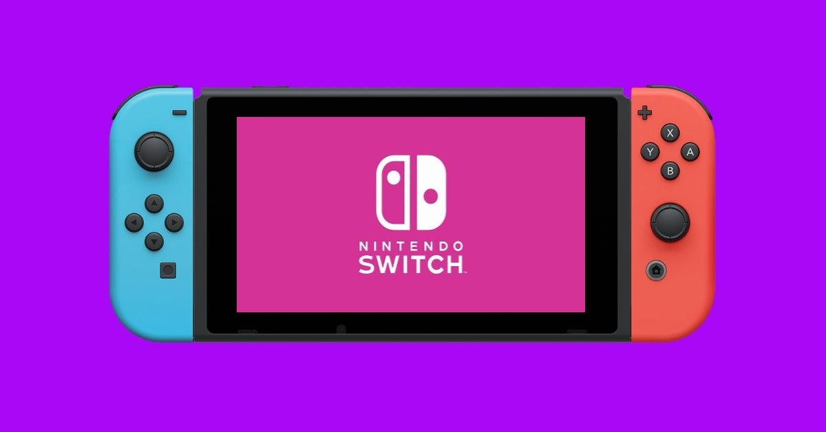 nintendo switch console purple pink