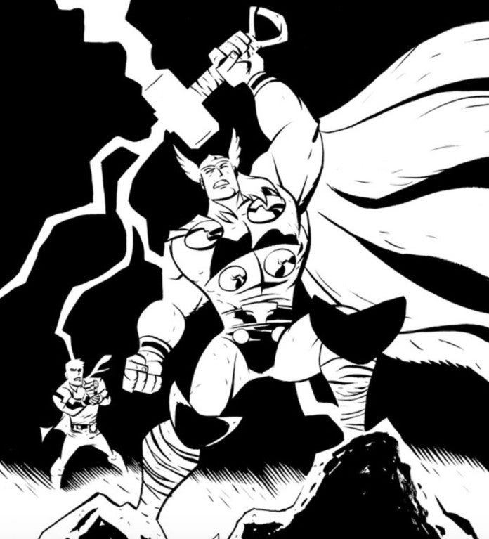 Oeming - Thor and Walker