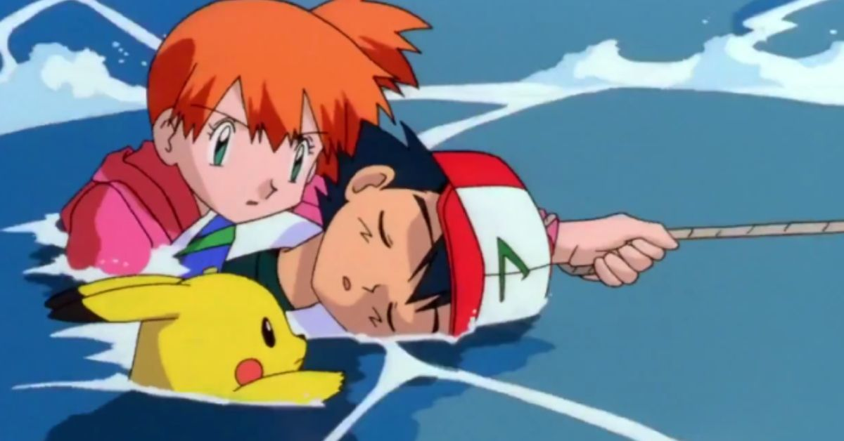 Pokemon Misty Saves Ash From Drowning