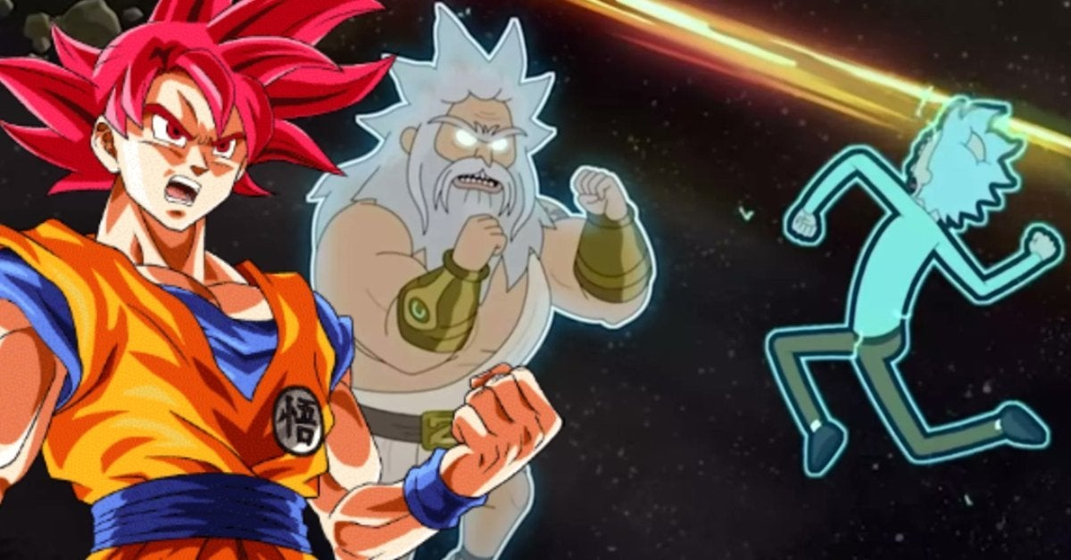 Rick and Morty Dragon Ball Z Battle of Gods SSG Goku