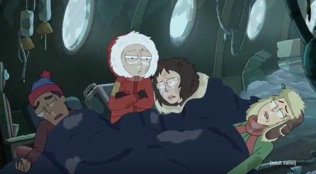 Rick and Morty South Park Easter Egg Vat of Acid Episode