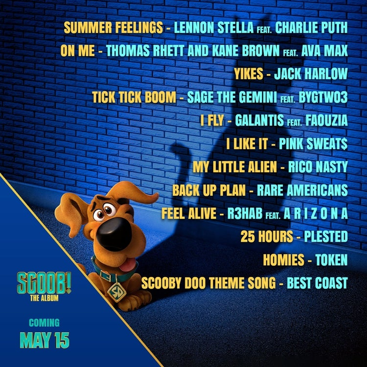 scoob soundtrack tracklist