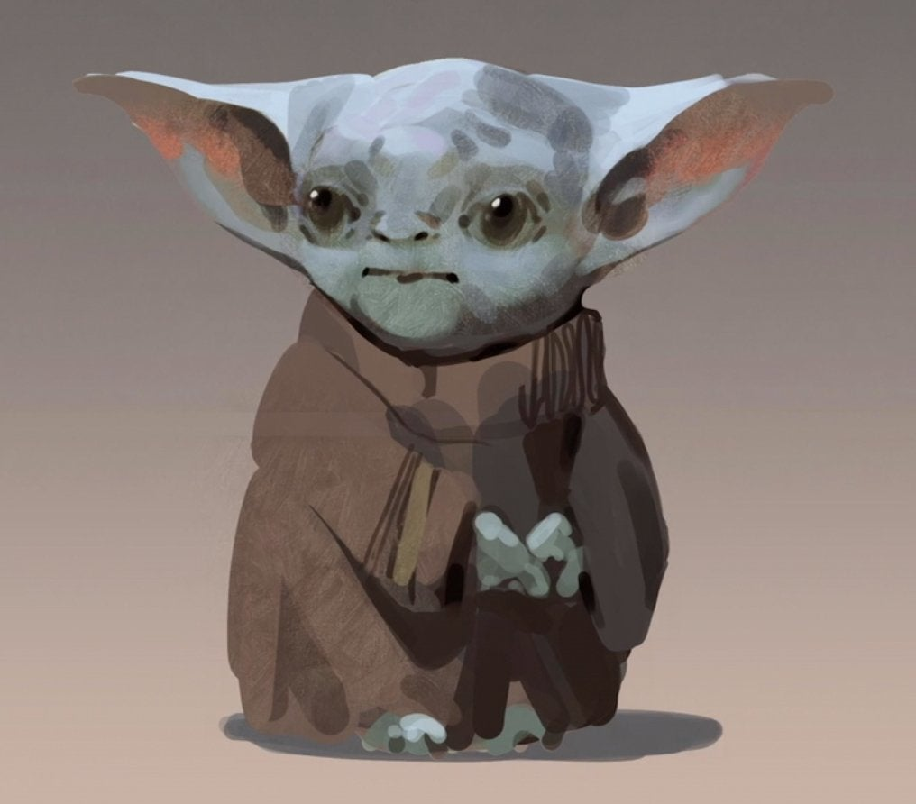 star wars baby yoda concept design