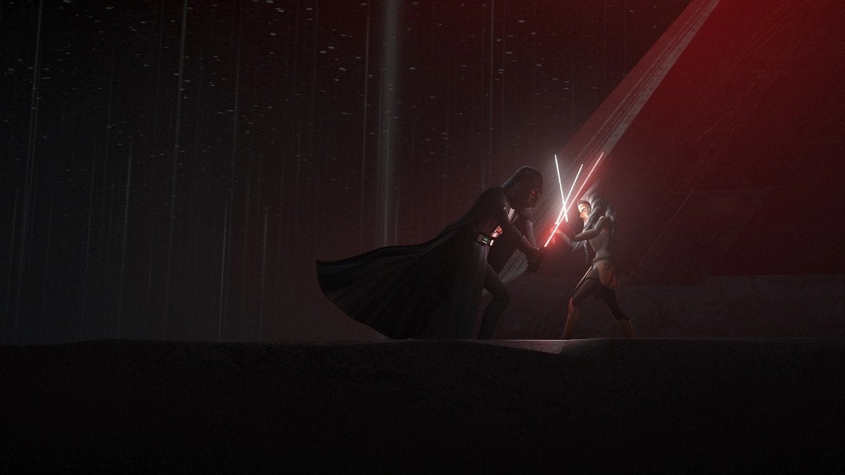 Star Wars Rebels Twilight of the Apprentice Vader vs Ahsoka