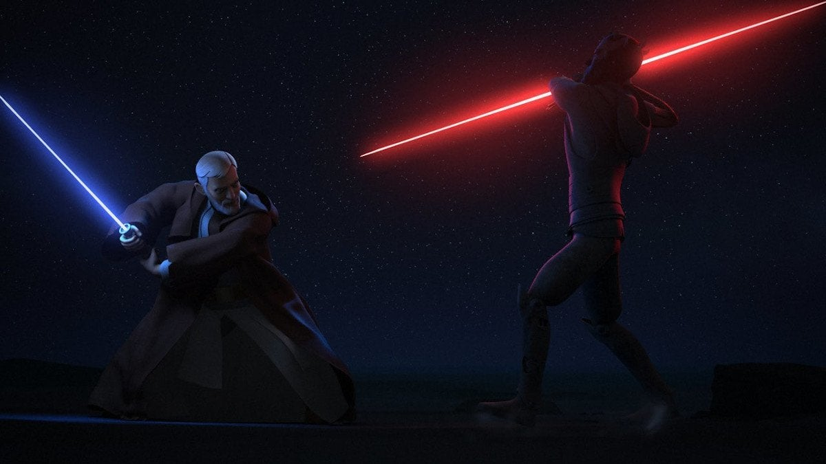 Star Wars Rebels Twin Suns Obi-Wan Kenobi vs Darth Maul