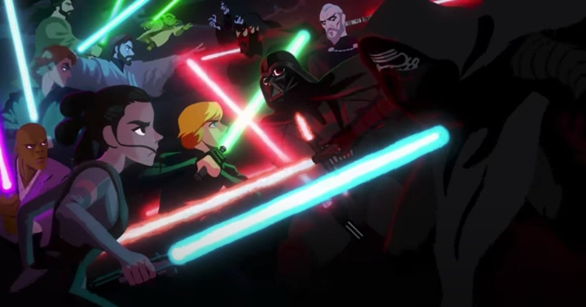 Star Wars Skwalker Saga Movies Animated Series Adaptation