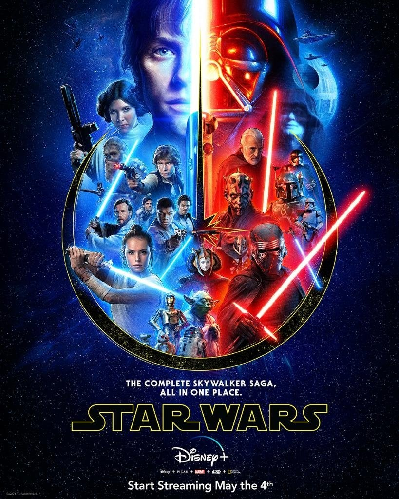 Star Wars The Skywalker Saga Poster Unveiled Ahead Of Disney Debut On May The 4th
