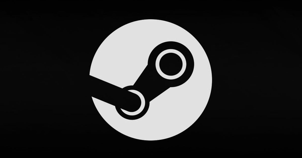 steam logo black and white