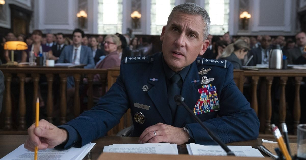 STEVE CARELL SPace FOrce Haircut