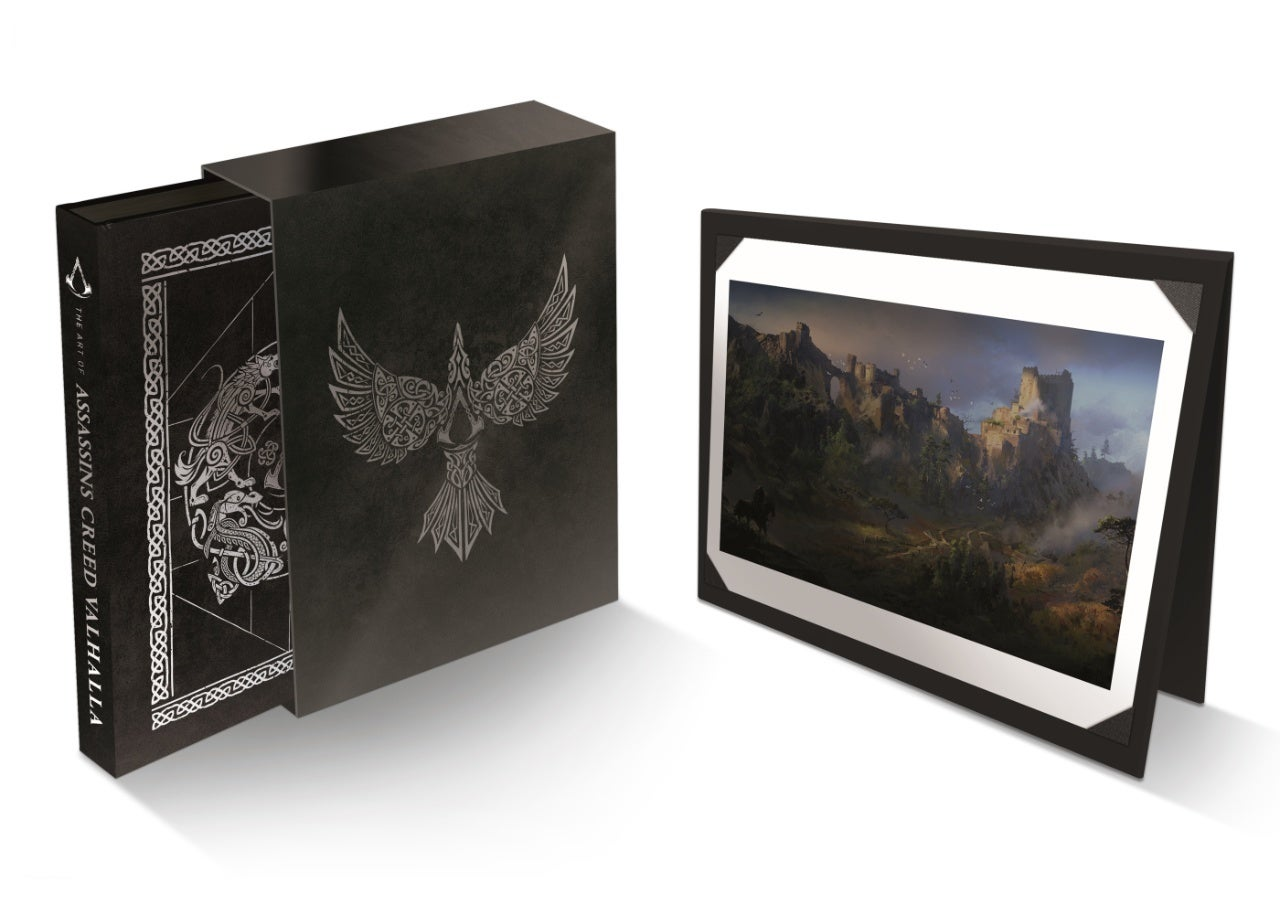 a arte de assassins creed valhalla slipcase decorativo e litografia