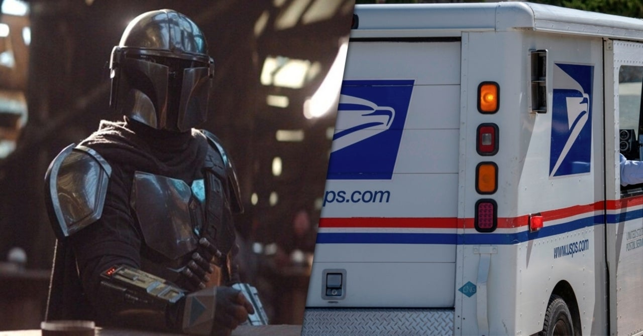 USPS Mail Man Creates Custom Mandalorian Helmet to Deliver Mail In