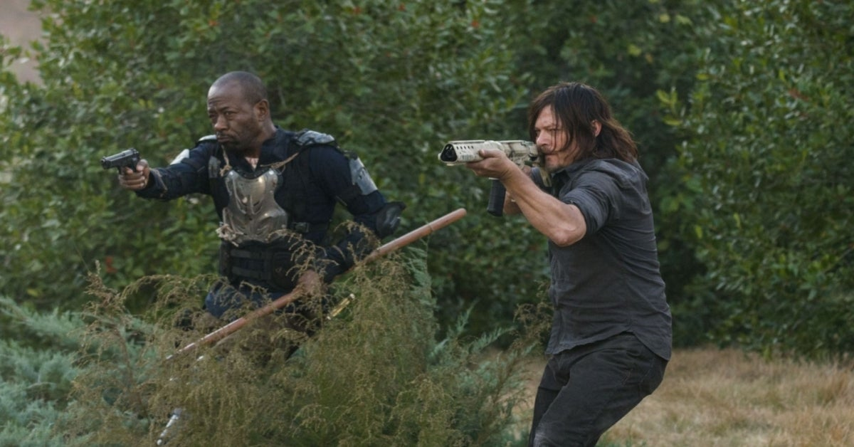 The Walking Dead Daryl Morgan Lennie James Norman Reedus