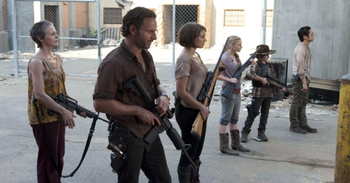 The Walking Dead prison Rick Maggie Carol Beth Glenn Carl