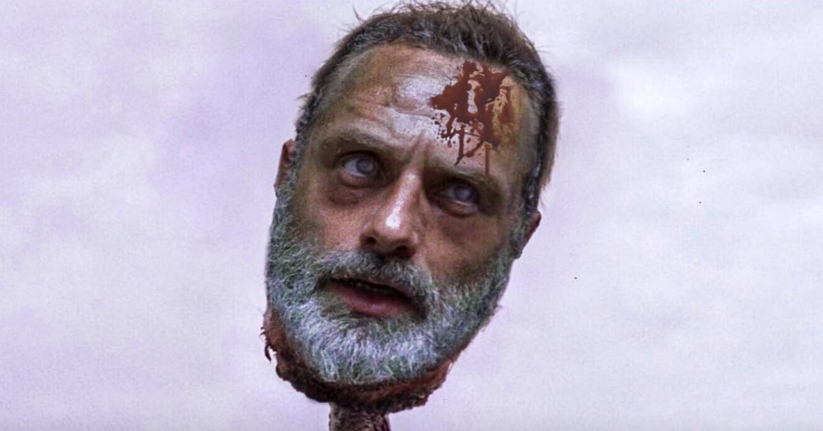The Walking Dead Rick Grimes dead head
