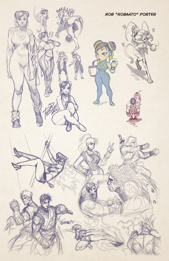 UDON X CAPCOM Sketbook Alpha - comicbookcom prev2