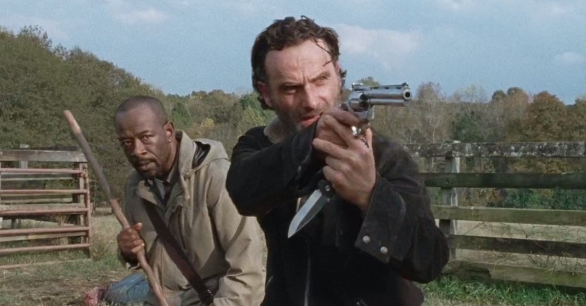 Walking Dead Rick Grimes Morgan Jones Lennie James