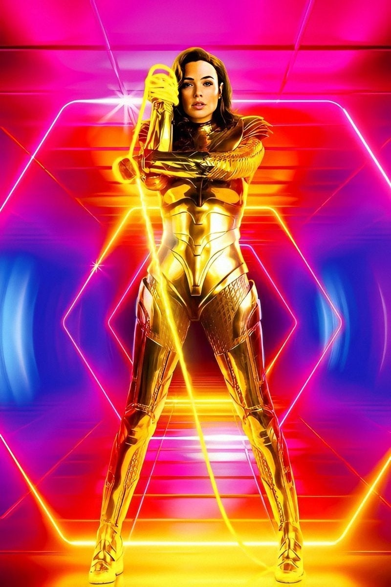 Wonder Woman 1984 Golden Armor Lasso Truth Photo Image