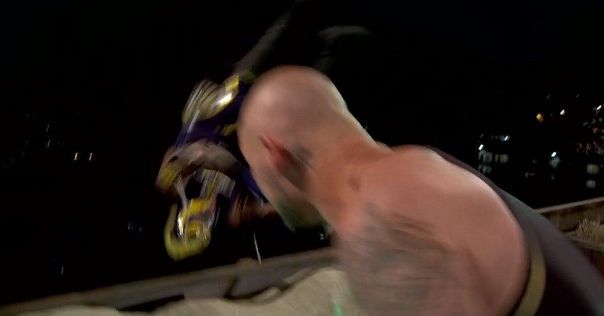 WWE Money in the Bank Corbin Mysterio Roof