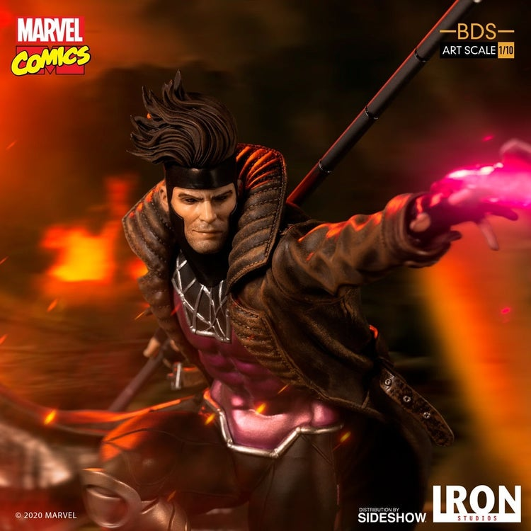 x men gambit iron studios 12