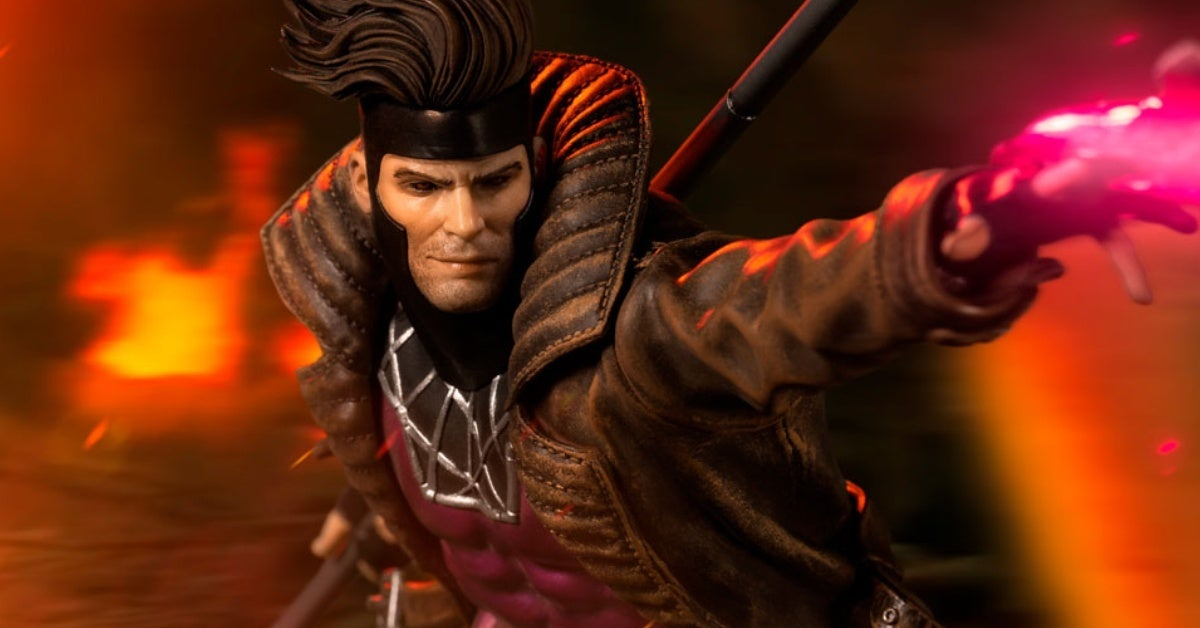 x men gambit iron studios statue header