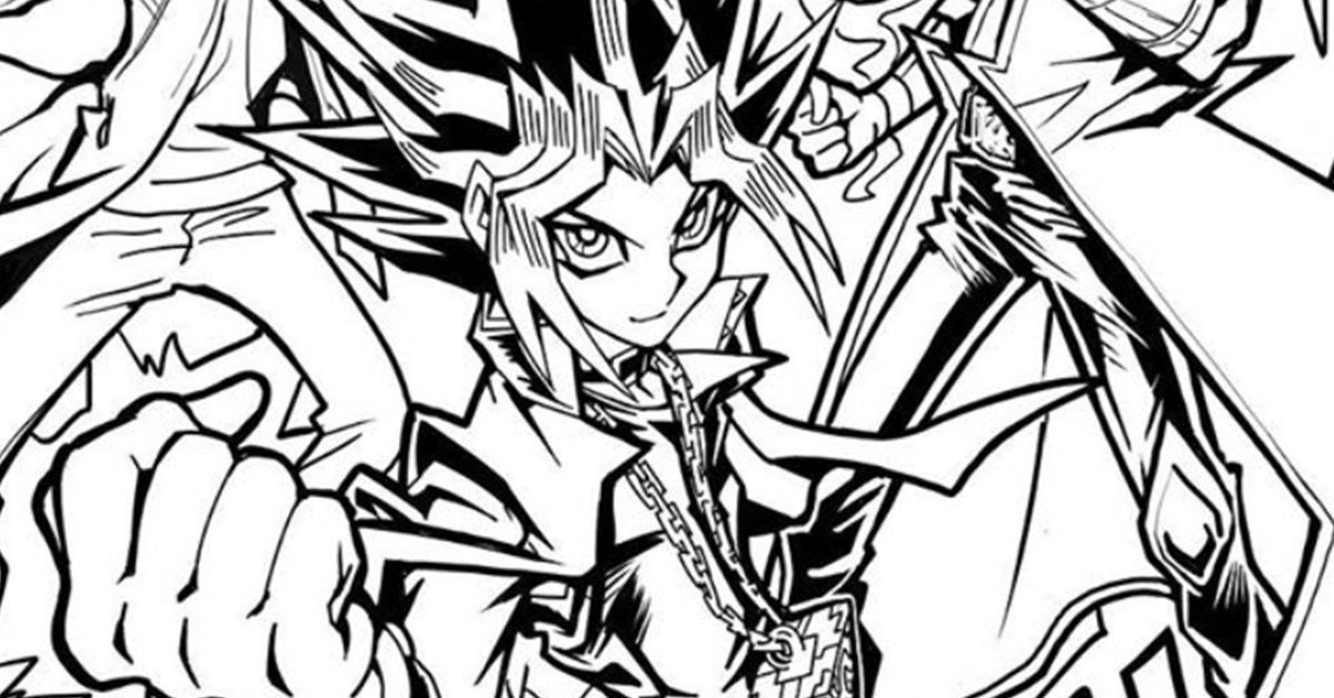 yugioh coloring page