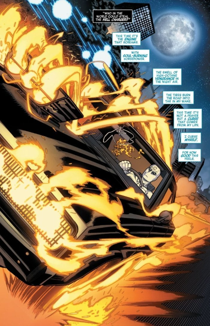 Avengers Age Konshu Moon Knight Steal Ghost Rider Car