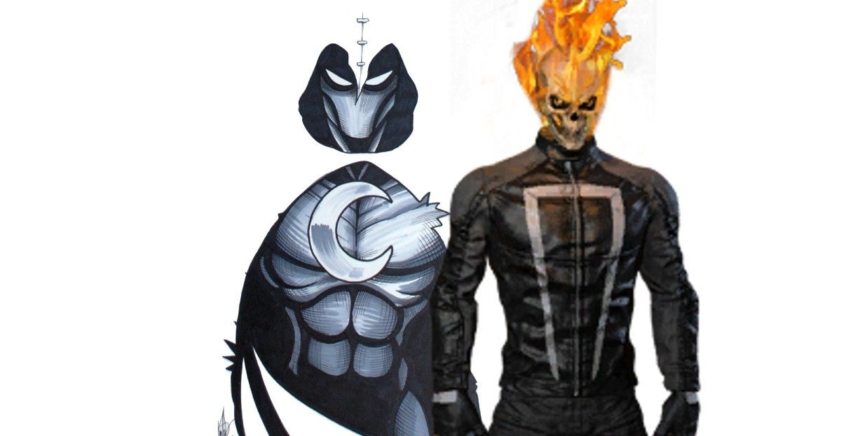 Avengers Moon Knight Steal Ghost Rider Car
