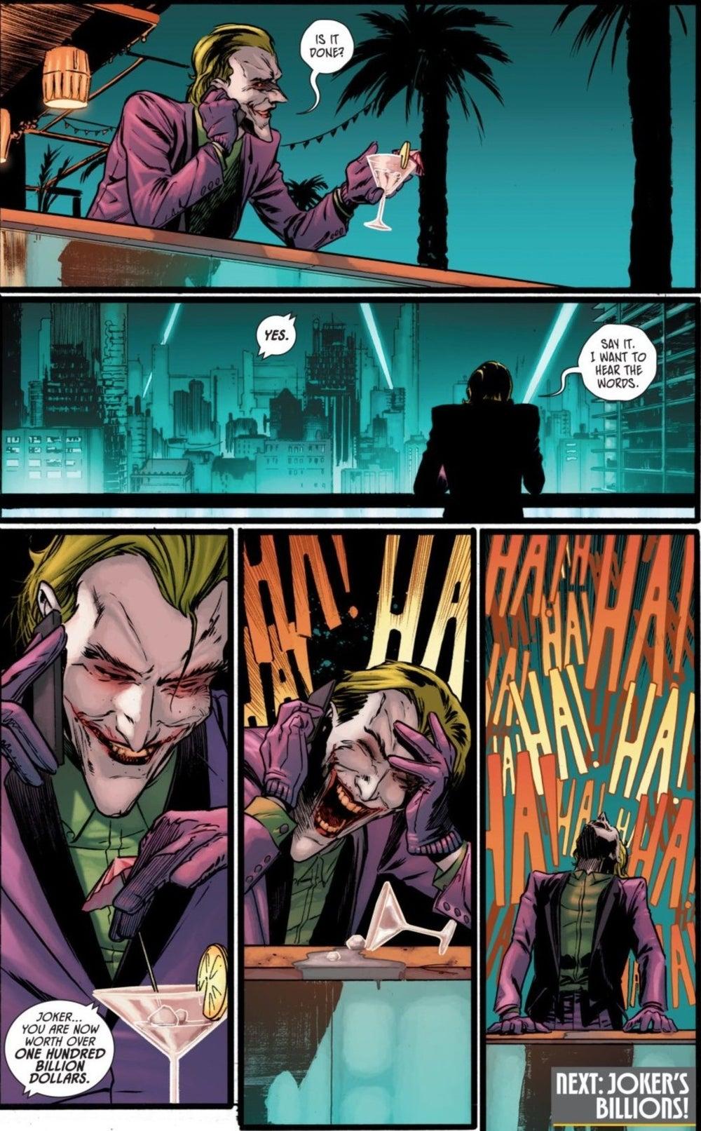 Batman 93 Joker Gets Wayne Fortune Gotham Wealthiest Man