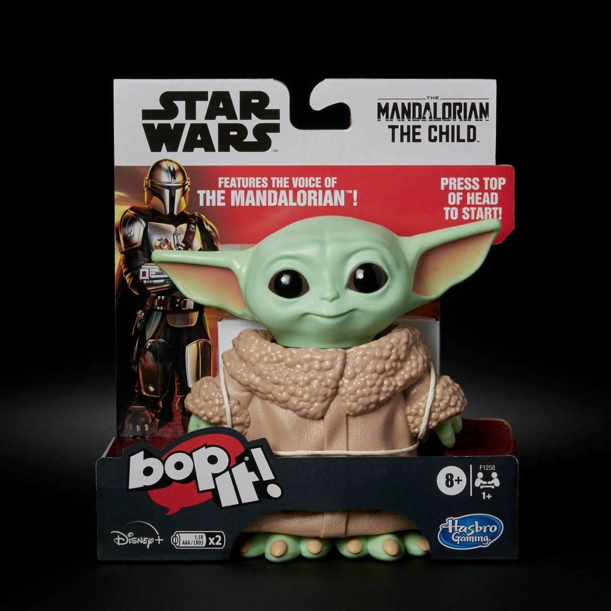 BOP IT! STAR WARS THE MANDALORIAN THE CHILD EDITION - black bckgrnd in pck