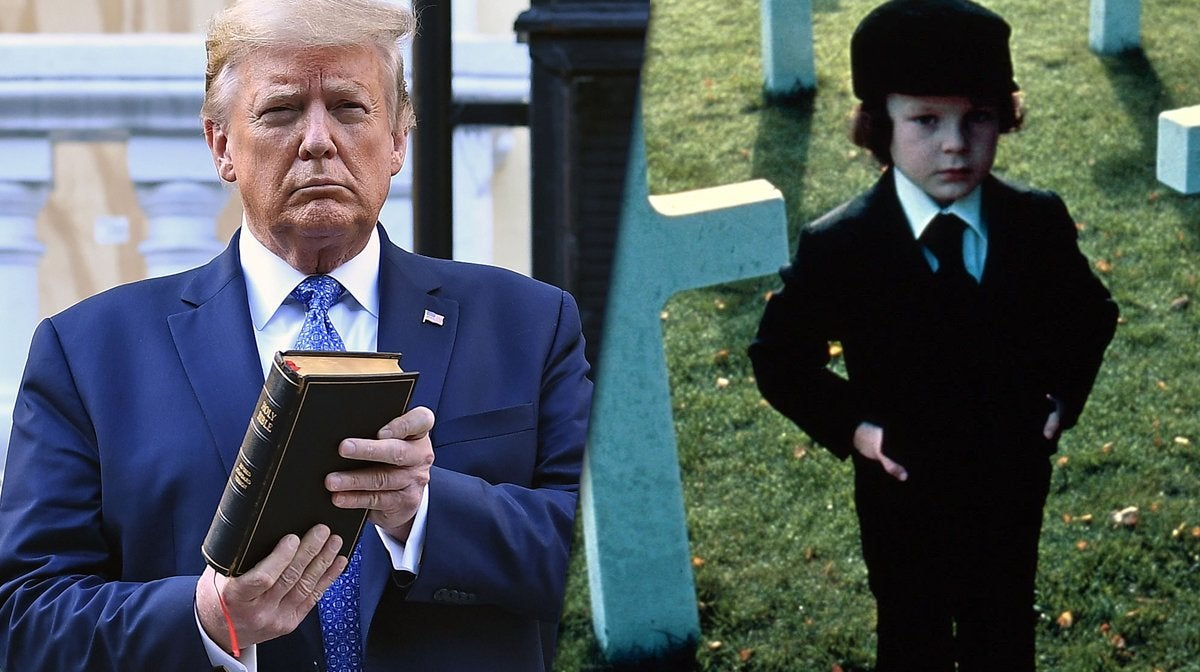 donald trump the omen damien