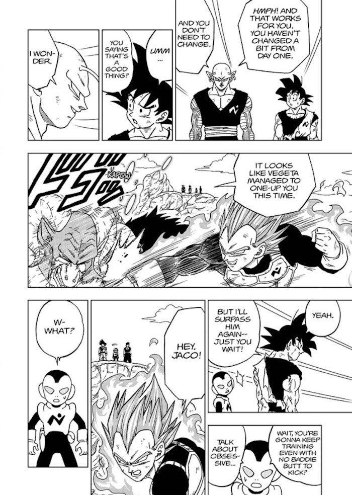 Dragon Ball Super Goku New Training Powers Goal vs Vegeta Manga 61