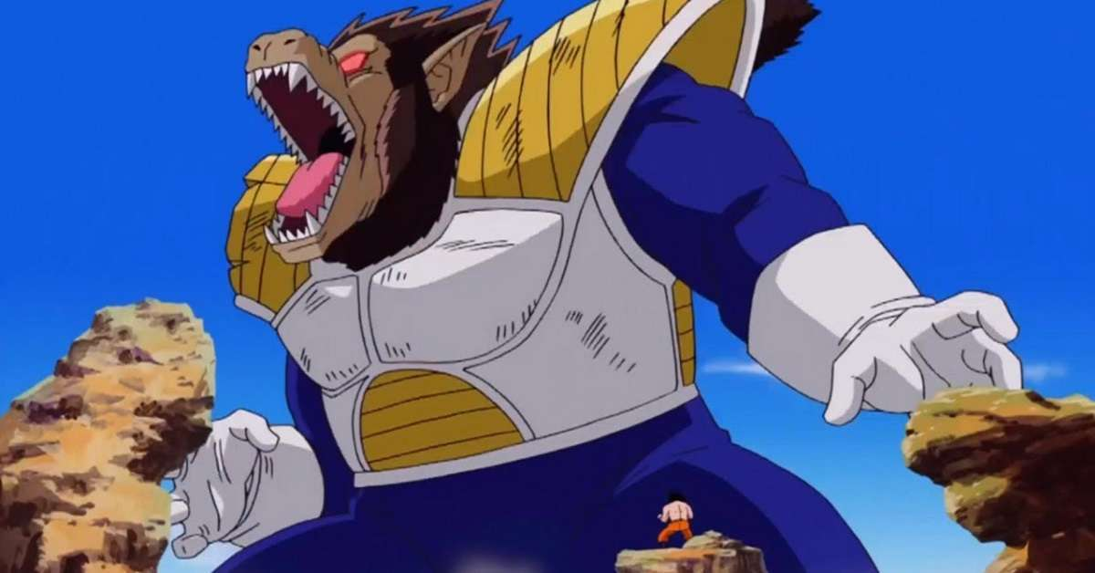 Dragon Ball Z Goku Vegeta Great Ape Fight