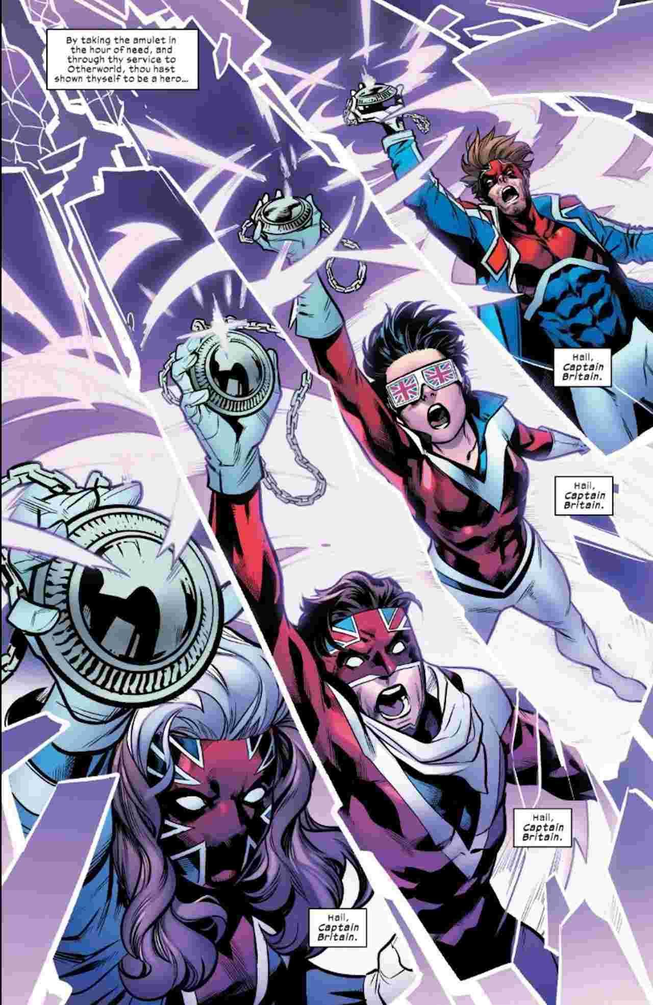 Excalibur Becomes Captain Britain X-Men Marvel