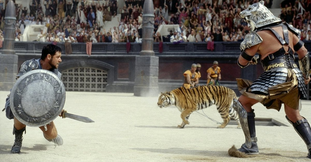 gladiator movie russell crowe tiger 2000