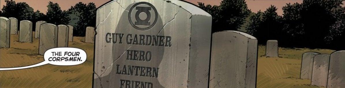 Green Lantern Death Guy Gardner