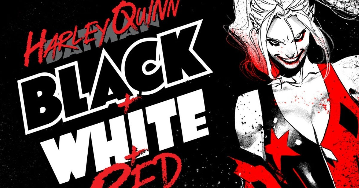 harley quinn black and white and red
