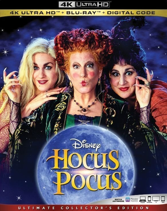 hocus pocus 4k ultra hd blu ray cover
