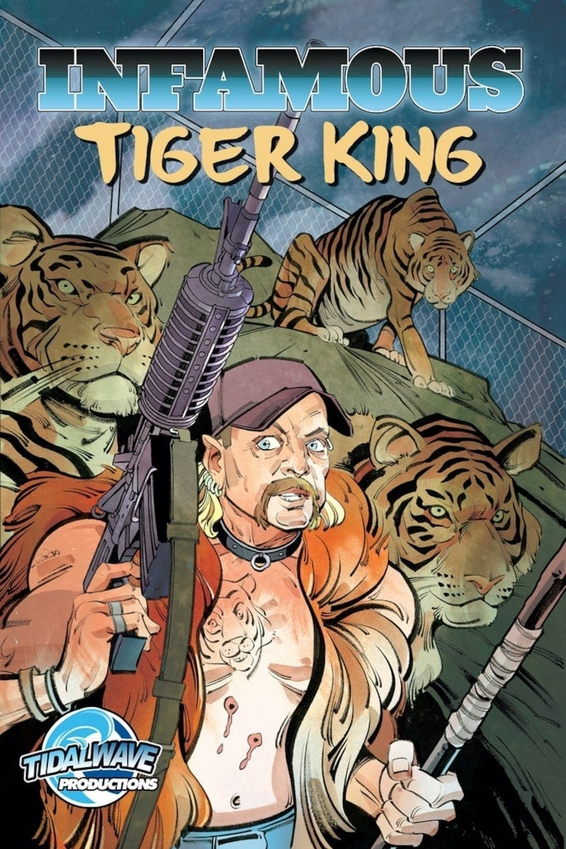 Infamous Tiger King Comic Book Cover Tidal Wave Productions