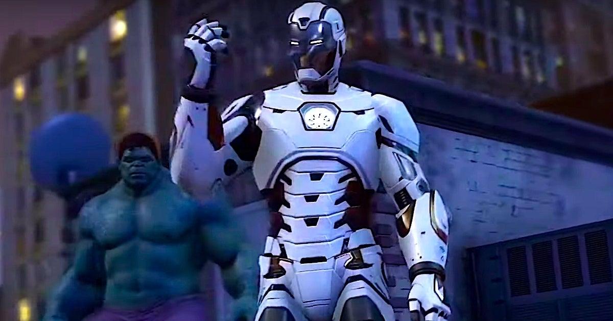 marvel's avengers iron man white suit
